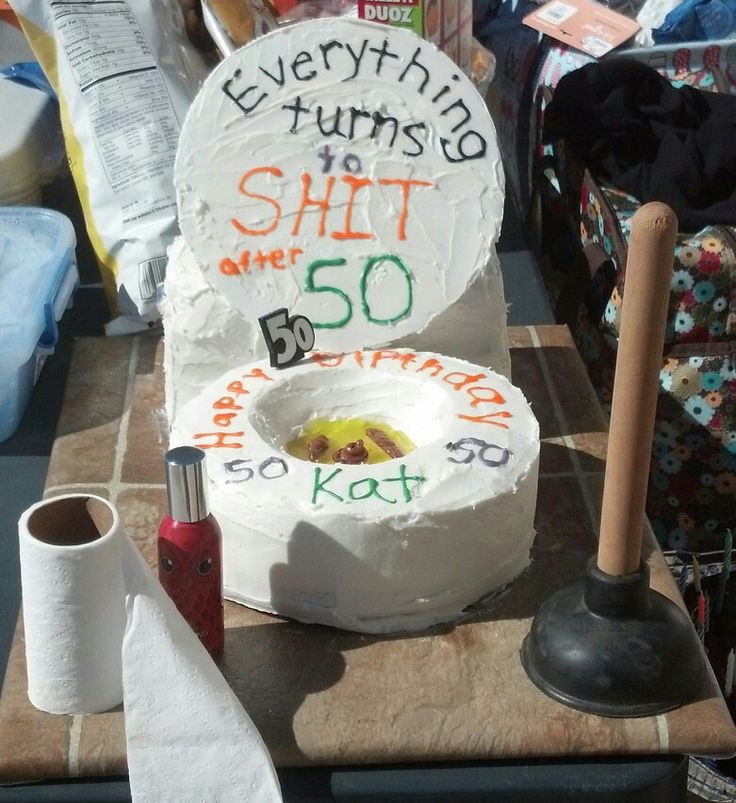 Toilet Cake for 50 th Birthday