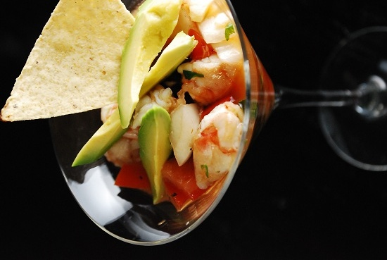 Shrimp Ceviche with Avocado + lots of other healthy recipes...site to explore