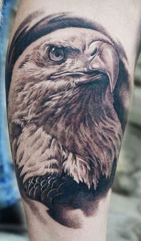 This incredibly realistic tattoo was inked by AD Pancho #InkedMagazine #eagle #tattoo #tattoos #realism