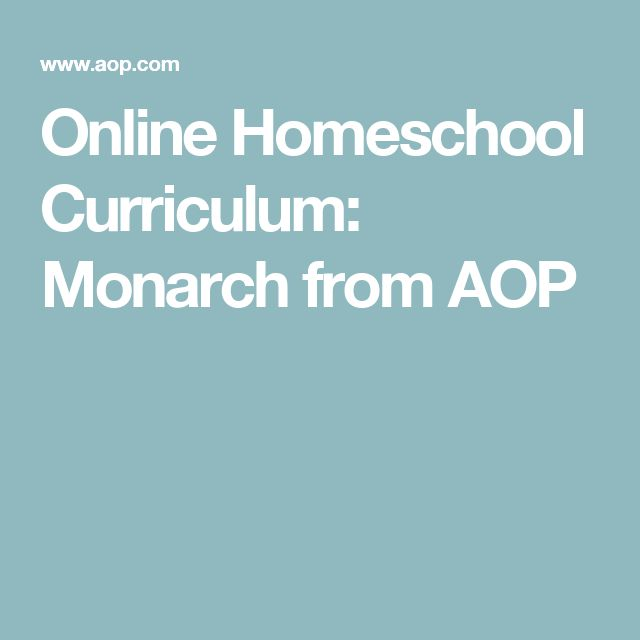 Online Homeschool Curriculum: Monarch from AOP
