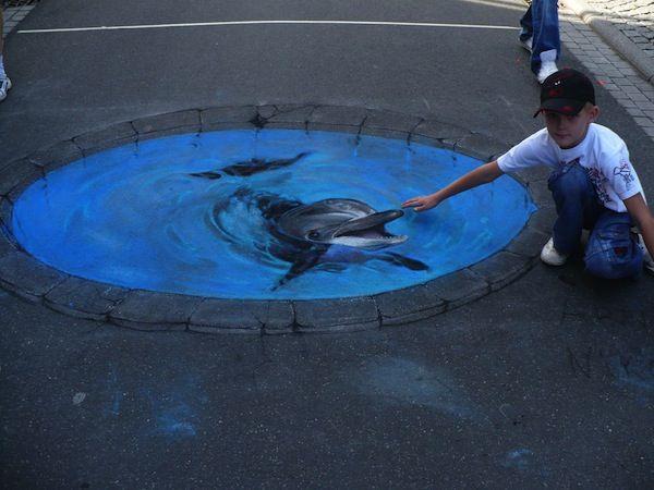 Amazing 3-D Sidewalk Chalk Art - iDidAFunny