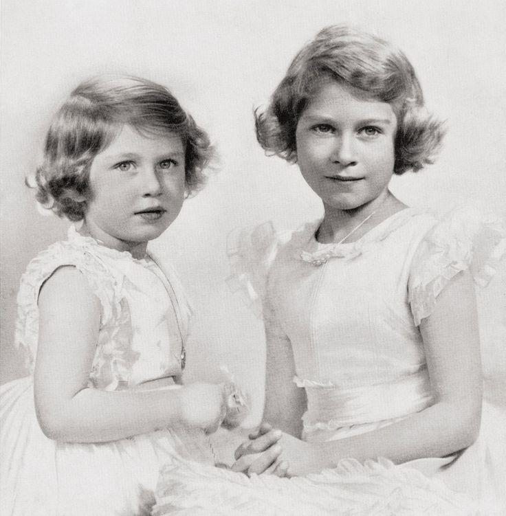 The Princess Elizabeth (Elizabeth ll) and The Princess Margaret (Countess of Snowdon) 1937.