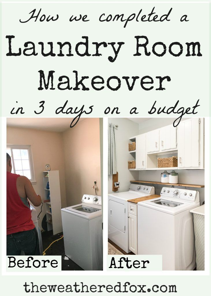 Laundry Room Makeover 3 days & $300