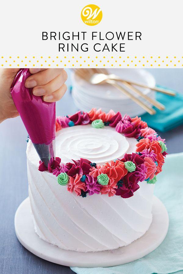 Bright Flower Ring Cake in 2019 | Cake Inspiration | Cake ...