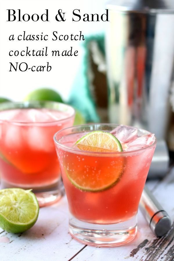 0-Carb Blood & Sand Cocktail