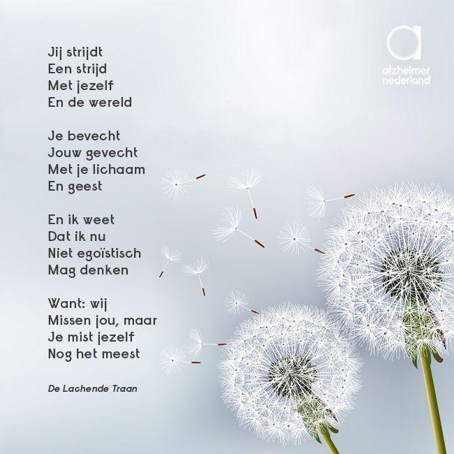 """""""Wij missen jou, maar je mist jezelf nog het meest"""". Ontroerend gedicht over #dementie, #alzheimer"""