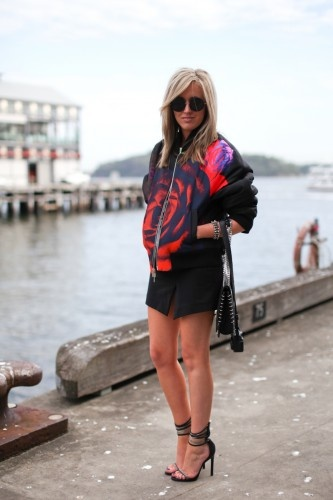 Publicist Montana McDonald's outfit is brilliant! Love! Photographed by Xiaohan Shen. @ Aussie Fashion Week