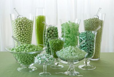Green Candy Bar: Candy Buffet, Green Candy, Candy Shops, Engagement Parties, Sweet Buffet, Candy Bar, St. Patrick'S Day, Parties Ideas, Favors Tables