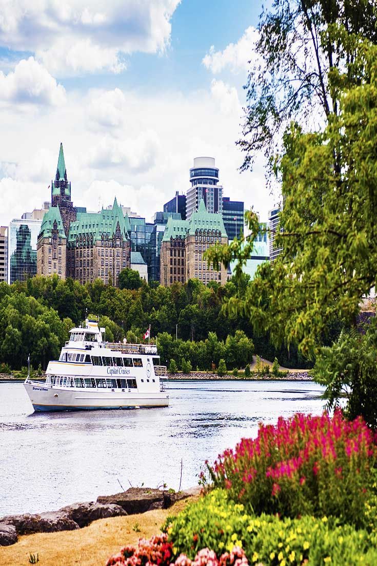 Rideau Canal offers boating in the summer and turns into the world's largest skating rink when frozen in the winter. | Ottawa