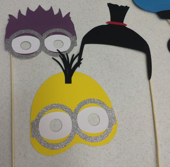 Yellow Minion, BAD Minion and Agnes Despicable Me Photo Props on Etsy, $10.00