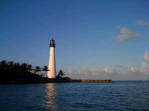 Cape Florida Light - Key Biscayne, Florida - Beach, City ...