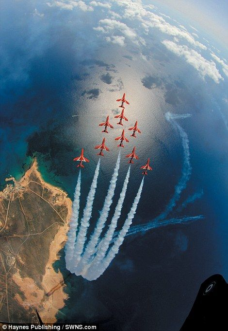 Red Arrows from a very unusual angle!