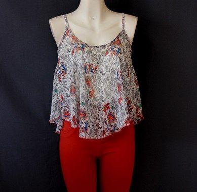 Una coqueta y hermosa #blusa de #gasa