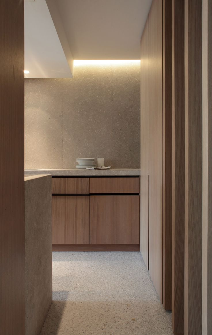 #interior design #minimalism #kitchen #wood #modern