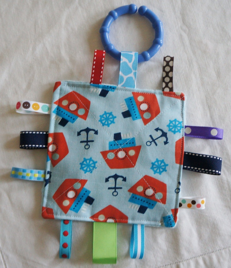 Make one of these with crinkle, tabs and teething ring