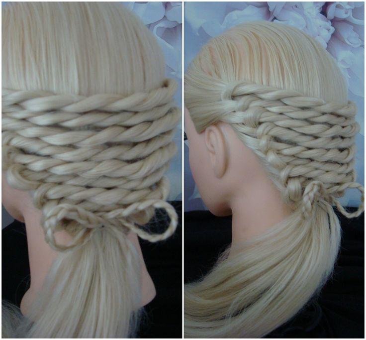 Rope Twist With A Bow Platt/ Hair Tutorial