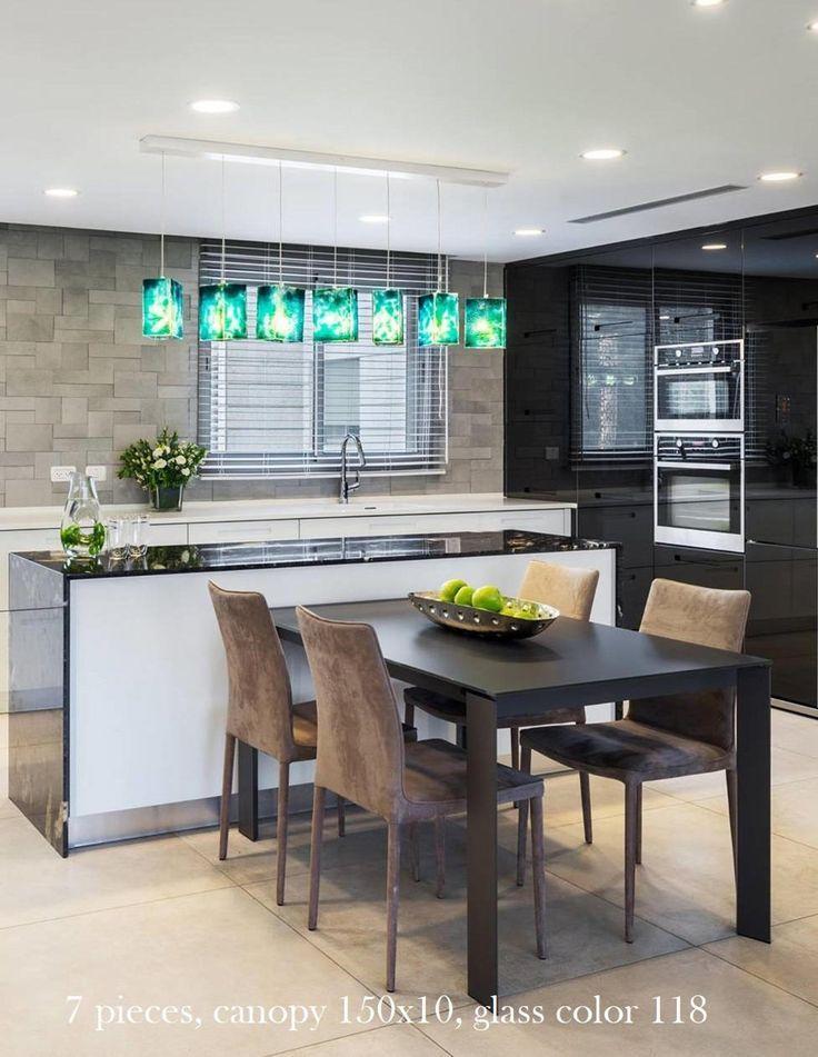Kitchen Island Lighting Glass Pendant Lamp For Kitchen Etsy In 2020 Kitchen Island Lighting Turquoise Kitchen Glass Pendant Lamp