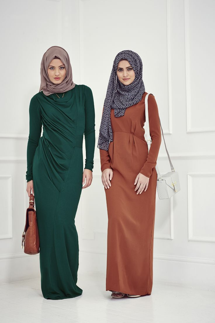 The brown with blue hijab! Minimal Exposure.Maximum Style: INAYAH   New Collections - Spirit and Dignified