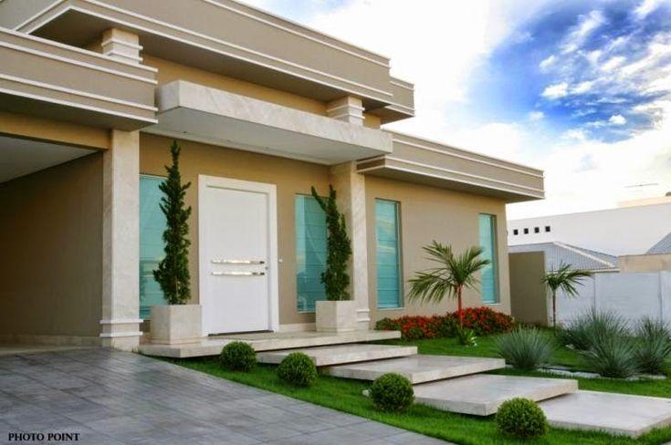 Fachadas de casas com escadas na frente veja entradas lindas e modernas ideias para a casa - Entrada de casas modernas ...