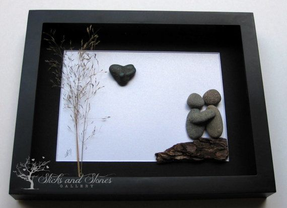 Unique Couple's Gift Personalized COUPLE'S Gift by SticksnStone
