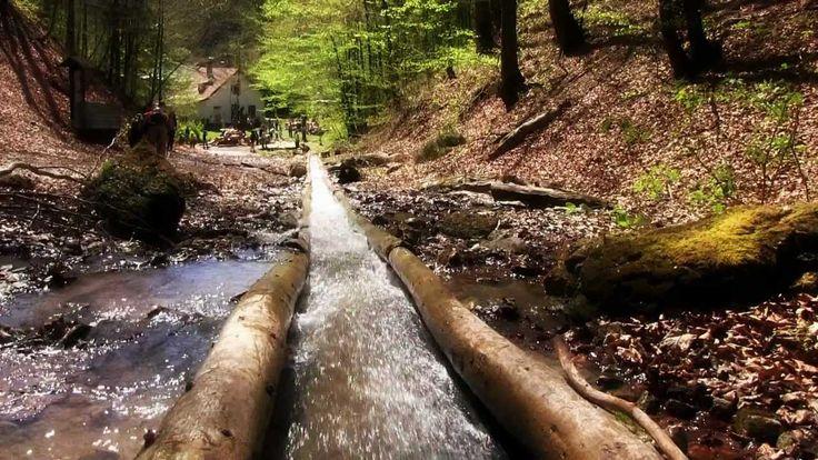 Uprostred lesov doliny Rakytovo sa nachádza unikátna kultúrna pamiatka – jediný zachovaný funkčný vodný žľab v celej Európe. Celodrevený žľab dlhý temer 2,5 km vybudovali v 19. storočí a slúžil na splavovanie vyťaženého dreva z lesa. Žľab ústi do harmaneckého potoka, ktorým mohlo drevo pokračovať až do Banskej Bystrice. Po jeho dĺžke boli rozostavané lesnícke