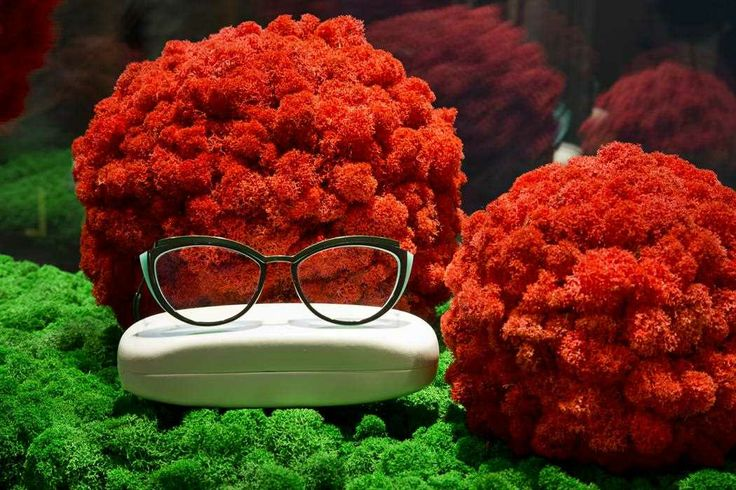 Moss Sphere, color red - Floemasrl.it