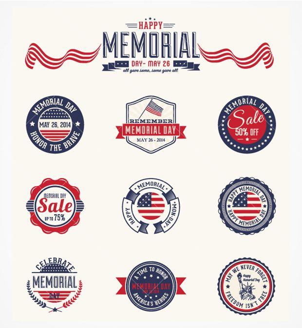 memorial day vector background