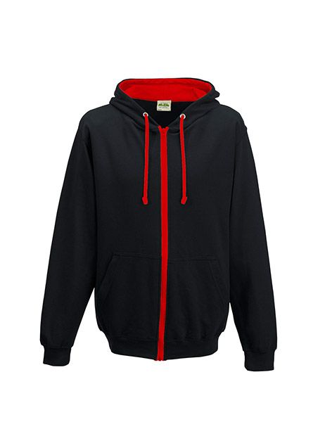 Varsity Zoodie - Jet Black/Fire Red