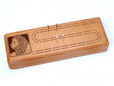 Lion Cribbage Board #cribbage