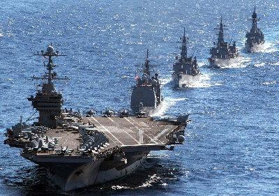 George Washington military exercise with Japanese warships