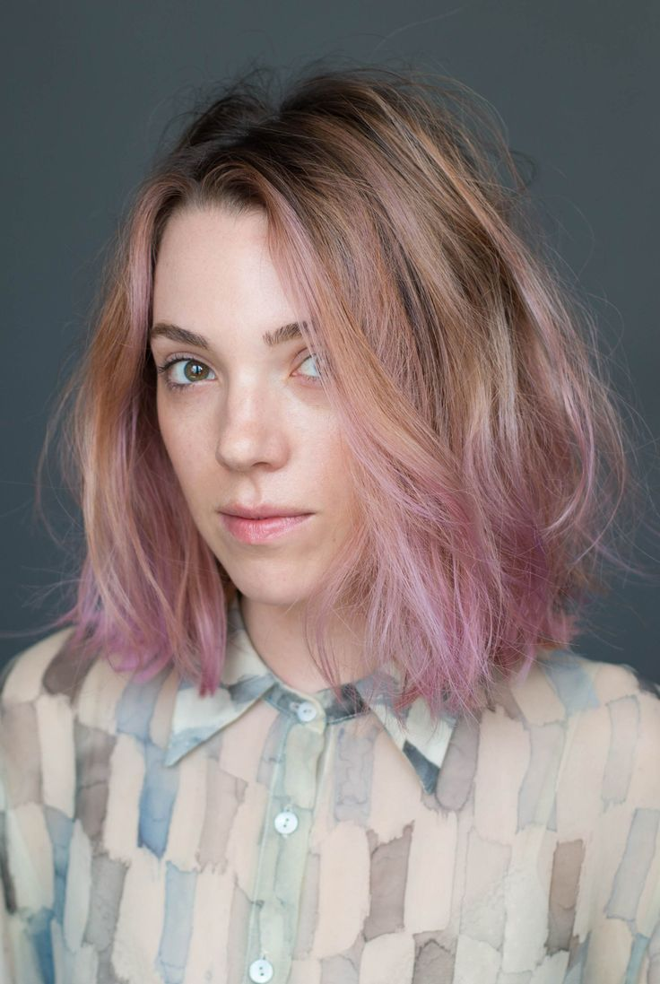 Natural waves and pretty pink pastel colour are so beautiful!
