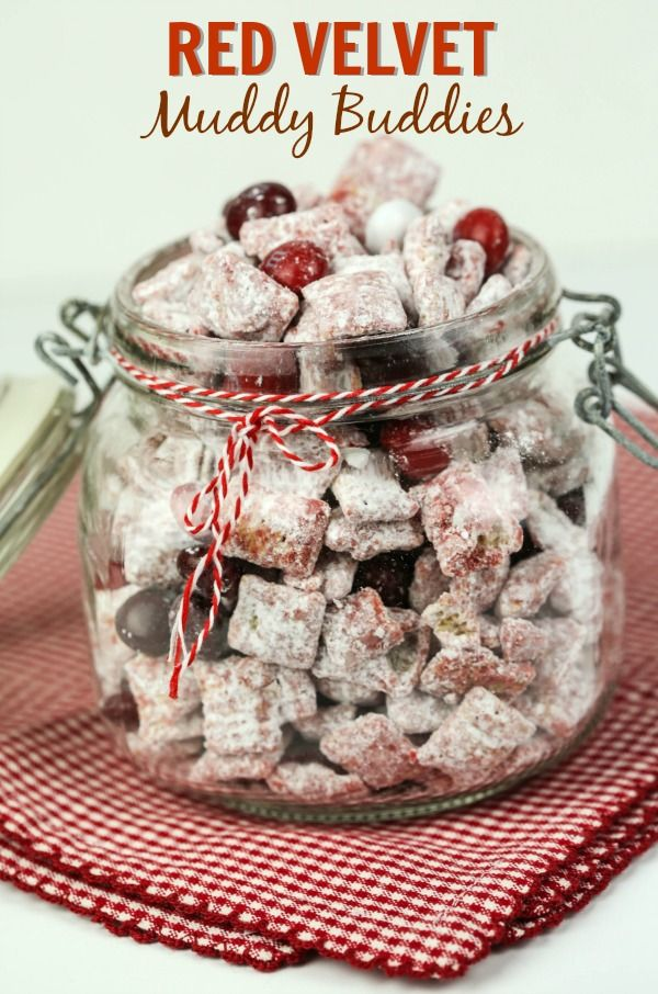 These Red Velvet Muddy Buddies are one of my family's favorite easy snacks. They are also a great Valentine's idea! Muddy Buddies can also be called Puppy Chow, depending on where you're from. #RedVelvetLove #ad