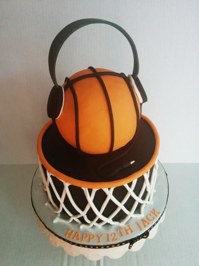 Basketball Cake Fondant 1 Cake Basketball Birthday