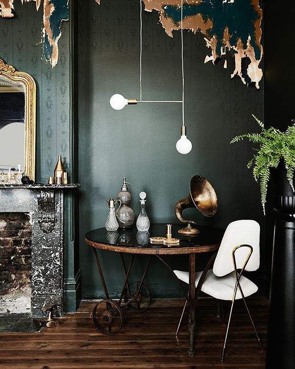 Interior Design Trends 2016 Home Modern Dulux ColorDark Green WallsDark