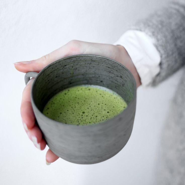 premium grade matcha + ginger tea