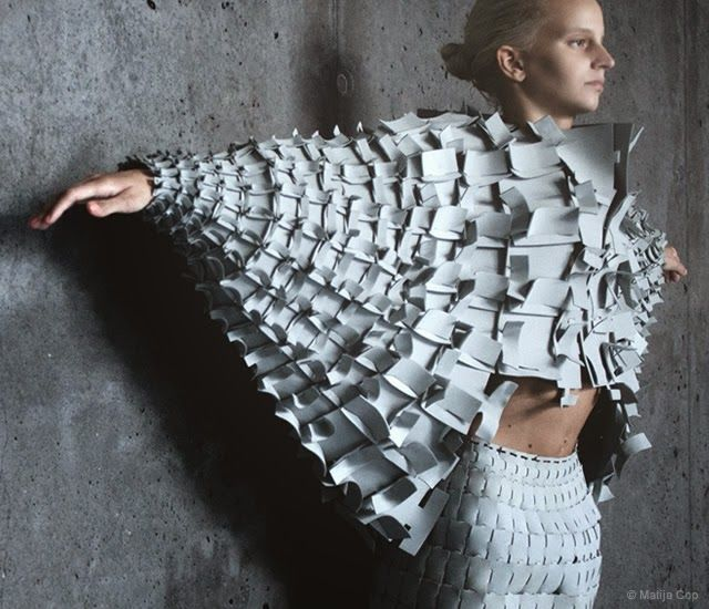 Unconventional Fashion - Forms based on a gothic cathedral. #architecture #surfacedesign