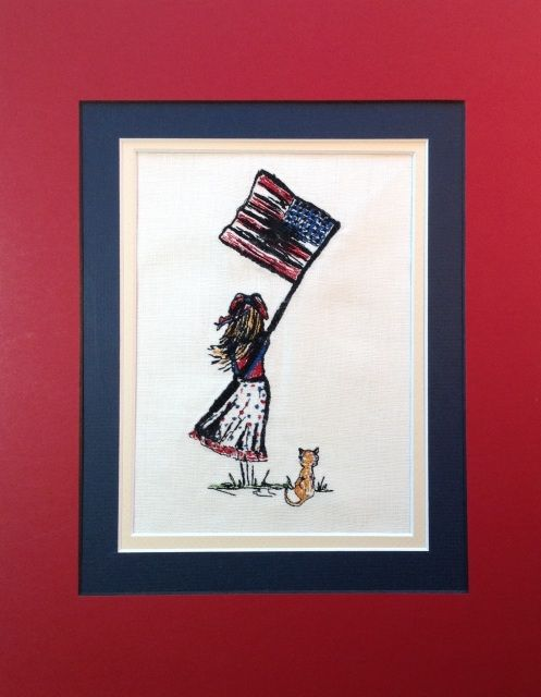 """Unique Urban Machine Embroidery Digital Design File """"Girl and USA Flag""""All of my designs are hand drawn by meLOTS OF JUMP STITCHES: Due to the nature or the art here you will find there are a lot of jump stitches. We choose to not remove details from the art so that is why there are lots of jumps. Please remember to cut jumps as you go.Actual size listed in picture of image.2 sizes includedActual stitch out will vary in each size.Fits to fill 5X7 and 6X10You will receive the following…"""