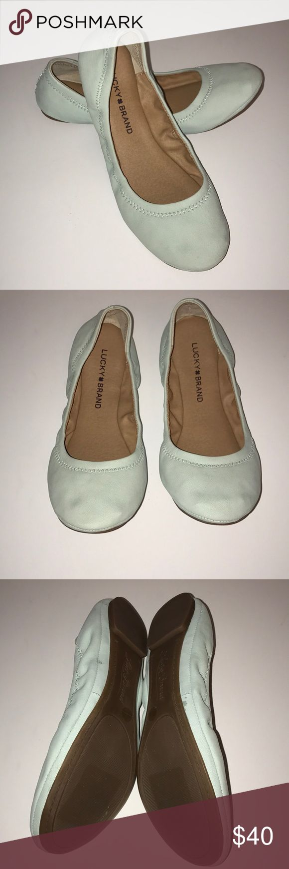 Lucky Brand flats Silt green Lucky Brand flats, new with box. Lucky Brand Shoes Flats & Loafers