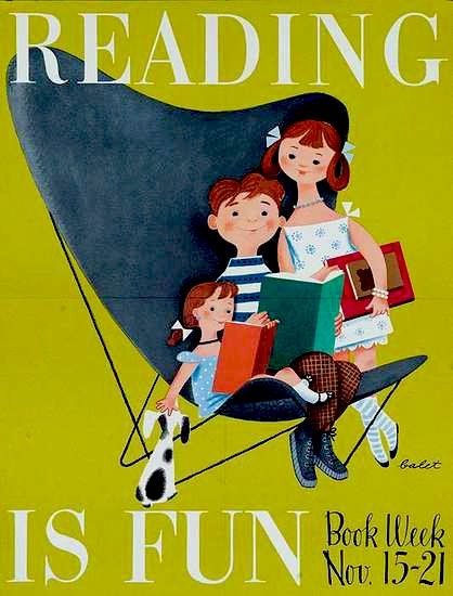 National Young Readers' Week, 1953. via words and eggs Illustration by Jan Balet