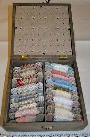 Momentos de Costura: Caja de galones y puntillas