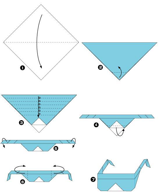 Les 18 meilleures images propos de origami sur pinterest origami chat en - Origami simple a realiser ...
