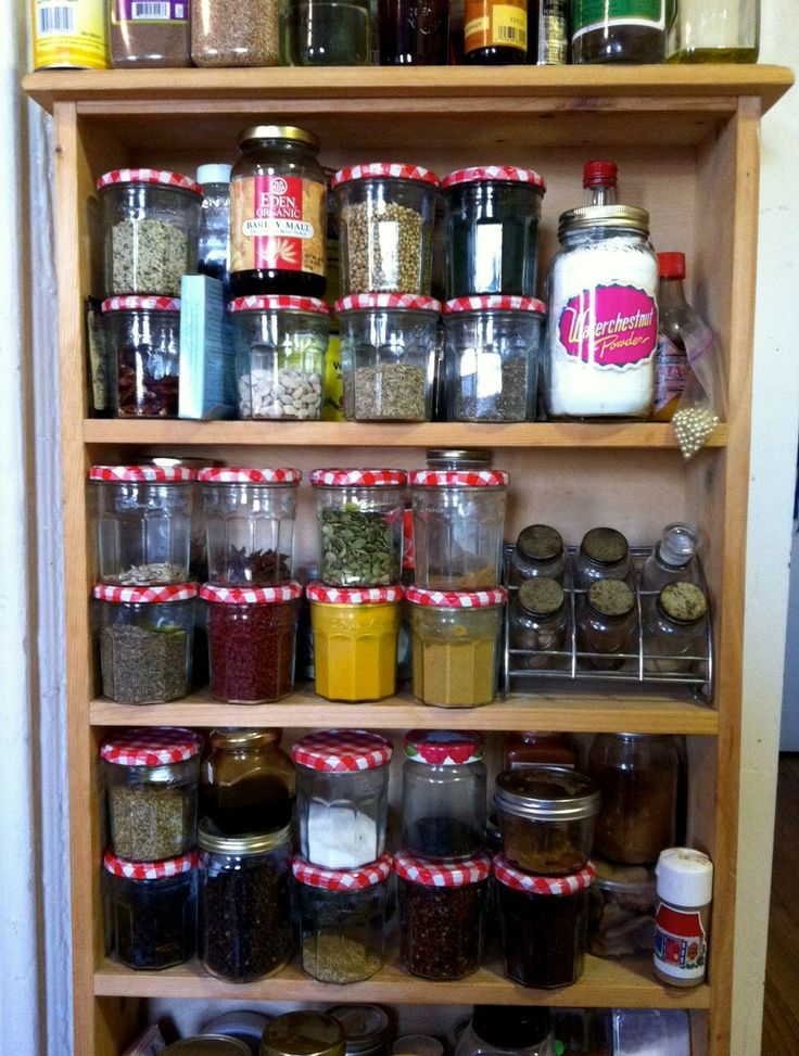 Bonne Maman jars for spices