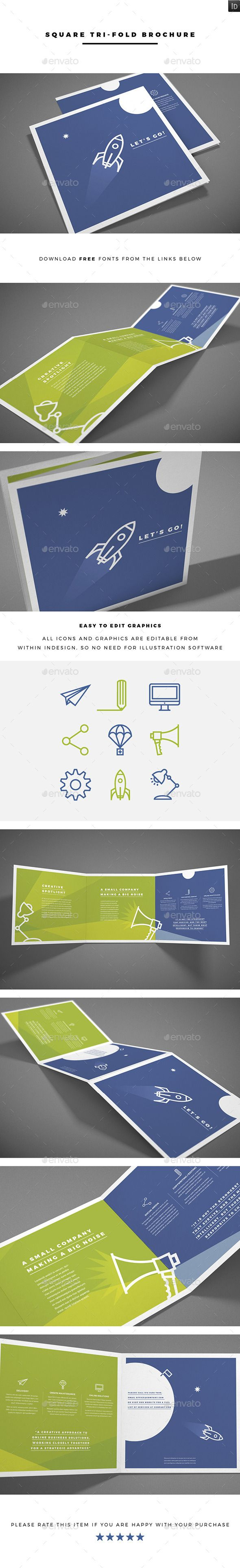 Square Tri-fold Brochure Template #design Download: http://graphicriver.net/item/square-trifold-brochure/12050487?ref=ksioks