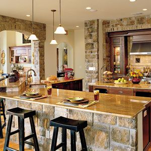 Idea House Kitchens | Stonework kitchen | SouthernLiving.com