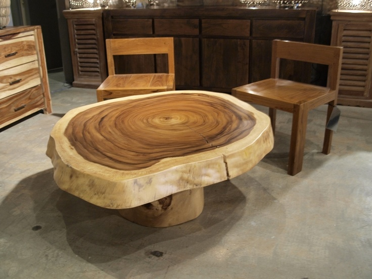 Round suar wood coffee table with central leg Also 42quot x  : 82c95b341327f61a88f097021c5a6050 round wood coffee table unique coffee table from www.pinterest.com size 736 x 552 jpeg 121kB
