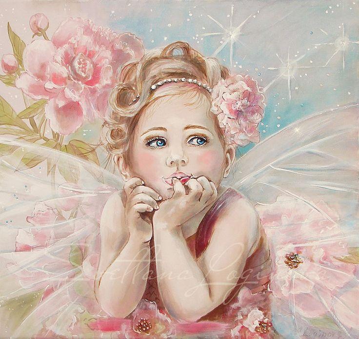 Купить Маленькая Фея - подарок маме, подарок девочке, картина в детскую, картина в спальню