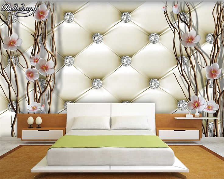 Beibehang 3d Wallpaper Custom Photo Wallpaper Diamond Plum Tree Bathroom  Murals Living Room Decoration Wallpaper For