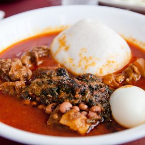 Image result for rice balls and groundnut soup