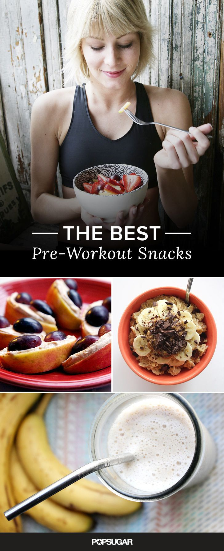 You've got to have energy to have an effective workout, so let your pre-workout snack help you push yourself to do your best. What works for you the best will depend on when you eat your snack as well as any stomach sensitivity issues you have, but a good rule of thumb is to make your snack a mix of mostly carbs and a little bit of protein for exercise success. Here are a few pre-workout snack ideas that do just that!