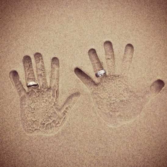 Such an awesome summer engagement picture idea. Find the ring at Jewels of Newport